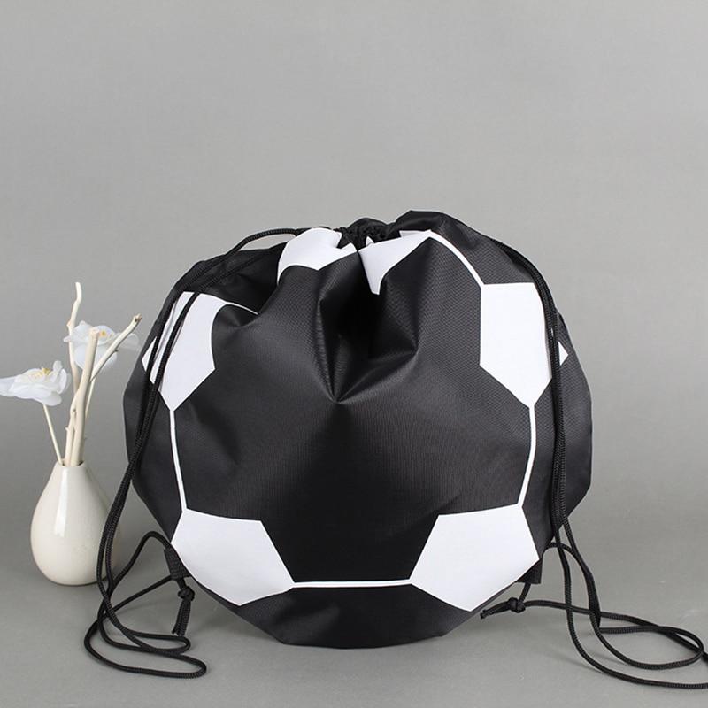 Bolsas de fútbol portátiles de voleibol baloncesto bolsa de transporte de Nylon para deportes al aire libre fútbol bolsa de entrenamiento negro