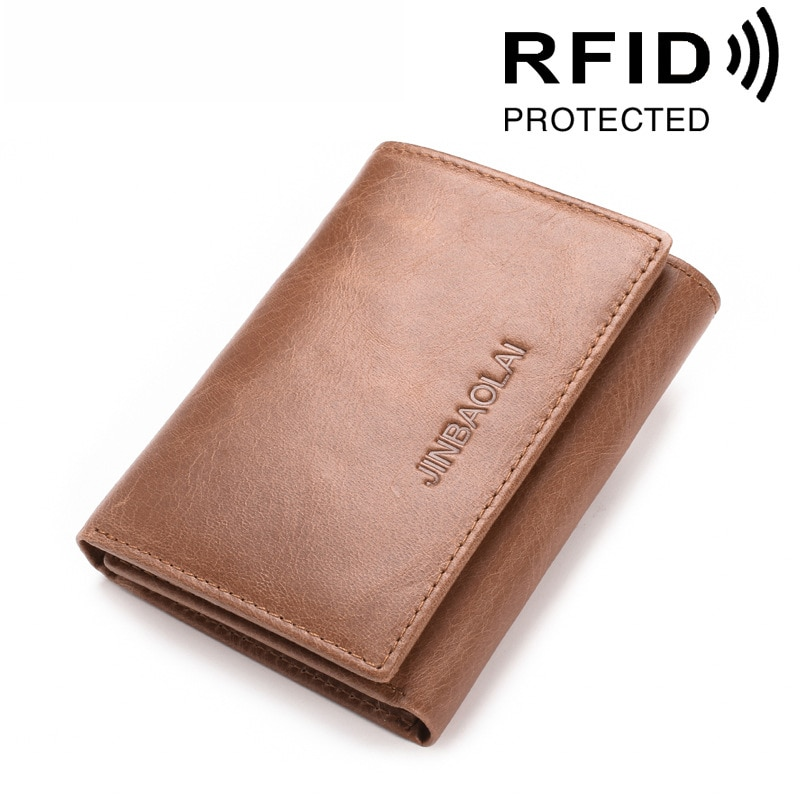 Rfid carteira de couro genuíno dos homens bolsa de moeda curto cor sólida saco de dinheiro carteira para homens bolso de crédito qualidade designer sacos de moedas