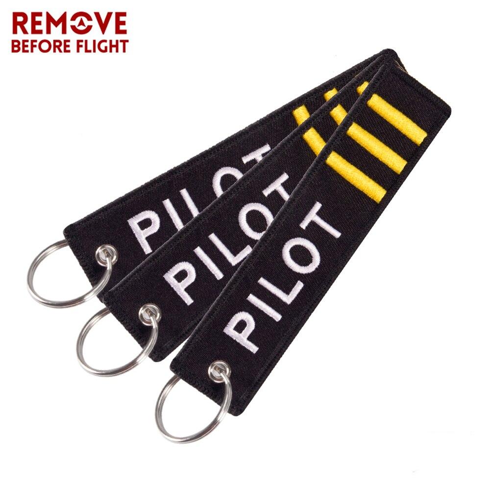 3 sztuk/partia breloki biżuteria haft co-pilot breloczek na prezenty w lotniczym stylu bagażu Tag etykiety mody breloki hurtownie