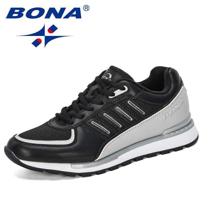 BONA 2020 New Designers Men Casual Shoes Lace Up Sneakers No-Slip Men Vulcanize Shoes Outdoor Leisure Footwear Tenis Masculino
