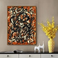 jackson pollock abstract art works free line wall posters and canvas paintings interior room wall decoration artno frame