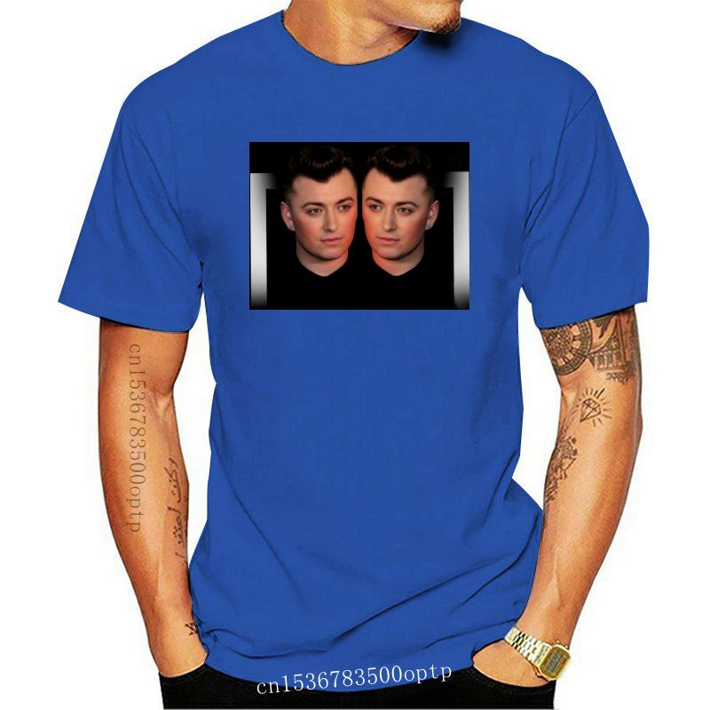 Sam Smith Brit Awards 2014 Men's T-Shirt Classic Cotton Men Round Collar Short Sleeve Top Tee Print T Shirt Summer Short