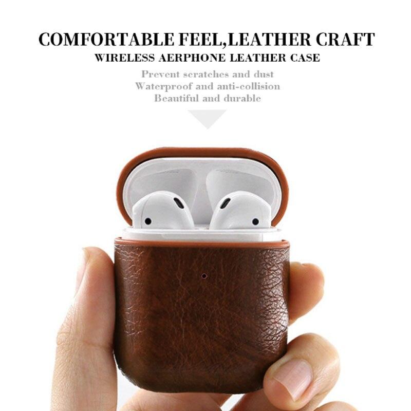 Estojo de couro para airpods 2, capa protetora, sem fio, bluetooth, fone de ouvido para i60 tws i10 tws i9s i7s i70 i80 i90 i100 i200