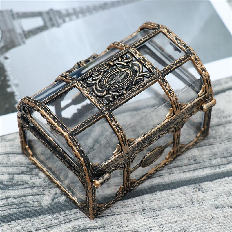 AliExpress - Vintage Transparent Pirate Treasure Storage Box Candy Trinket for Jewelry Crystal Gem Trinket Box Holder Organizer Earrings Ear