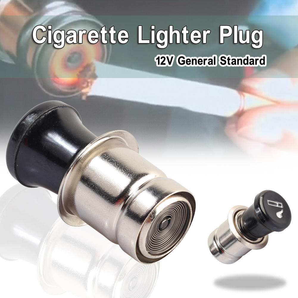 Metal Universal 12V Cigar Cigarette Lighter Socket Power Plug Outlet Parts for Auto Car Truck