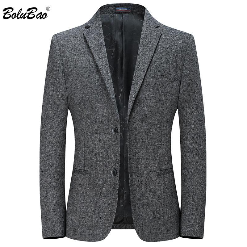 BOLUBAO, nuevas chaquetas informales de negocios para hombre, para otoño, traje ajustado para hombre, abrigos de moda de marca para hombre, chaquetas de punto de Color sólido, abrigo
