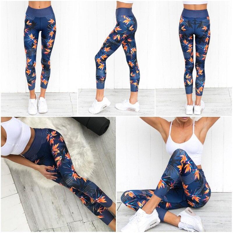 Pantalones de Yoga estampados, mallas de Fitness únicas para mujer, mallas de entrenamiento deportivas Sexy, ropa de gimnasio elástica con realce, pantalones delgados