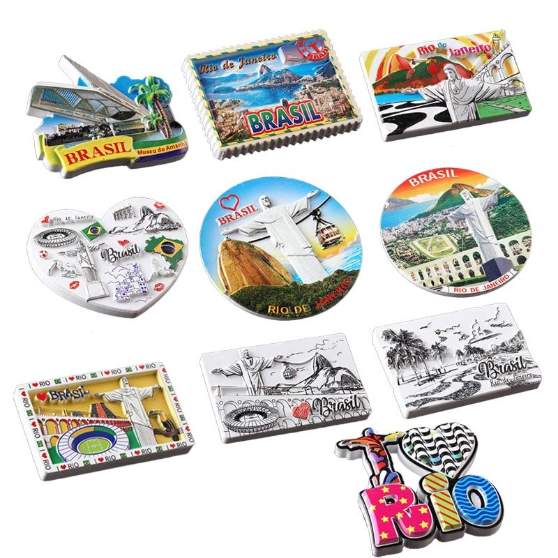 Магниты на холодильник из смолы 3D, ручная роспись, Бразилия, Ирландия, 3D магниты на холодильник из смолы, сувениры для туризма, коллекционные вещи, подарок