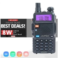 2021 original baofeng uv 5r upgrade new walkie talkie two way radio 5w8w uhf vhf dual band outdoor long range ham transceiver