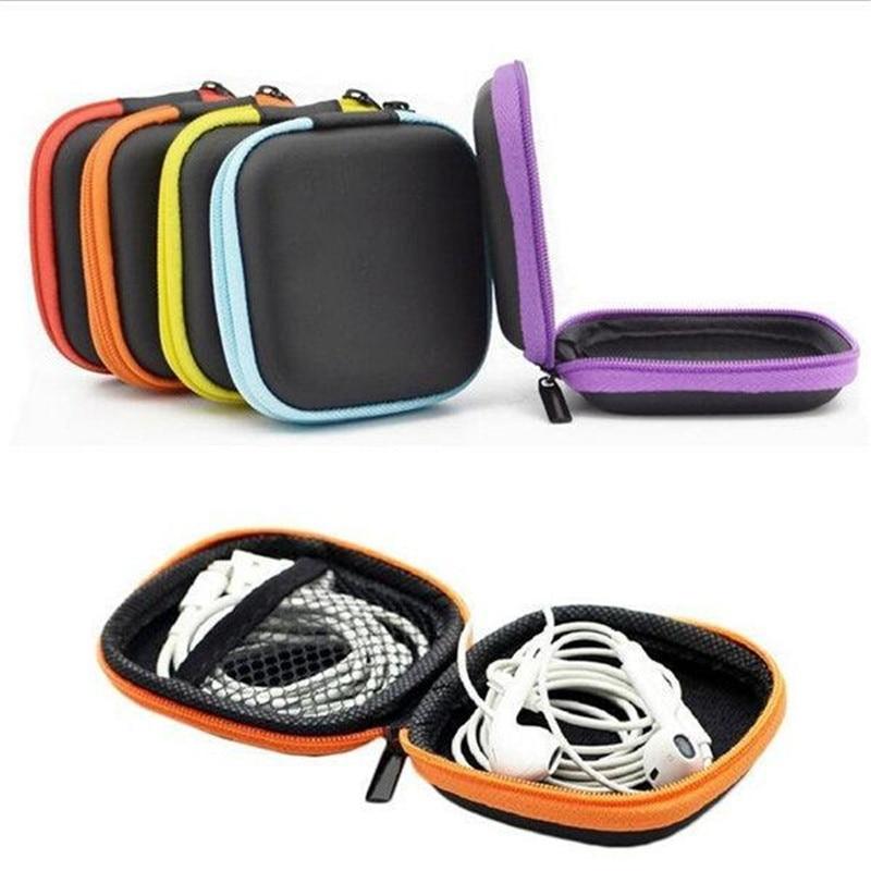 Bolsa de almacenamiento cuadrada para auriculares, Estuche de transporte EVA para auriculares, cables USB, cargadores de teléfono, accesorios para auriculares