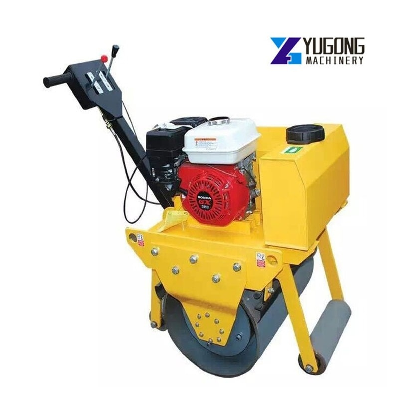 330KG Road Roller Compactor Machine Walking Single Wheel Roller Honda GX160 with Vibration Force for 15KN