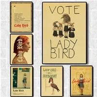 Affiche de Film doiseau de dame greta-gerwig  affiches et imprimes Vintage  peinture artistique  decoration de chambre a coucher