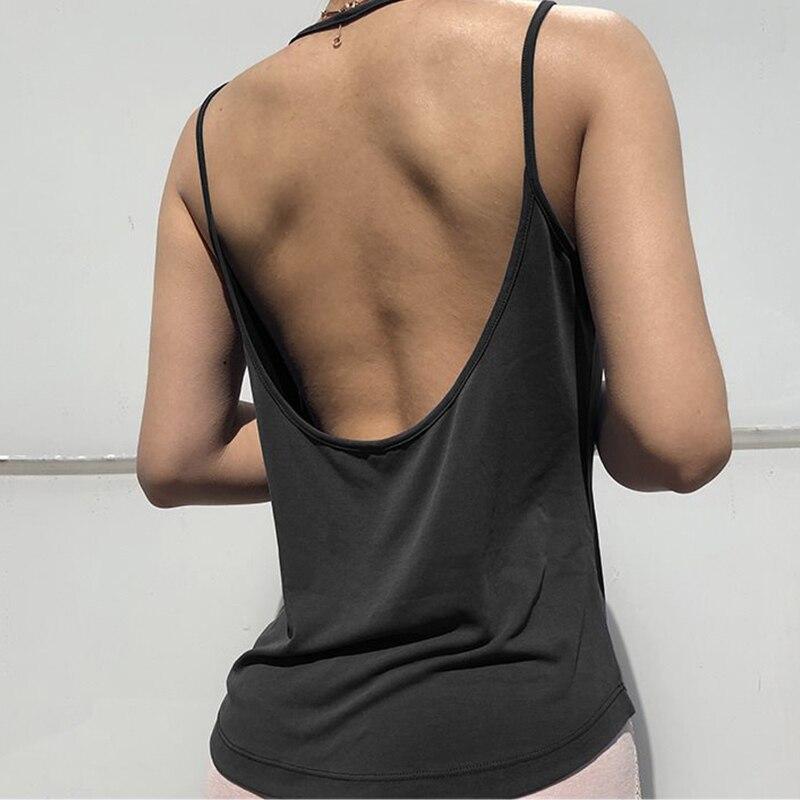 Zhangyunuo colete esportivo sem mangas, yoga, feminino, sexy, costas nuas, top, regata de academia