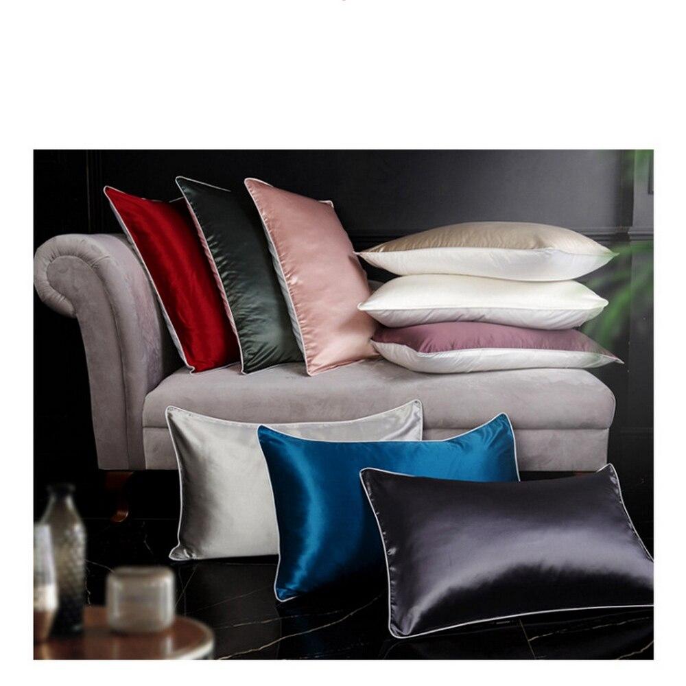 100% الحرير الطبيعي المخدة 1 قطعة الحرير وسادة حالة 48 سنتيمتر x 74 سنتيمتر مختلف الألوان التوت الحرير وسادة حالة الحرير المخدة يغطي