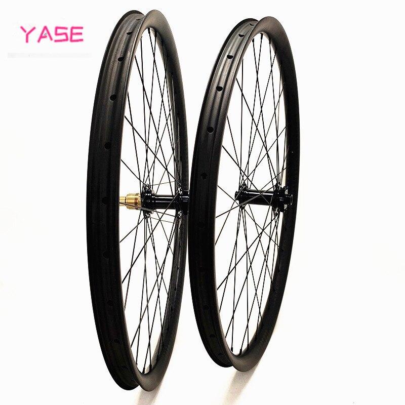 Juego de ruedas mtb 29er 30x22mm sin gancho/asimetría Tubeless XC carrera carbono juego de ruedas 110x15 148x12mm Boost hub Bitex R211 ruedas de disco