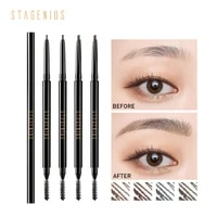 stagenius eyebrow pencil waterproof long lasting grey brow automatic eye brow tint tattoo pen microblading pencil with brush