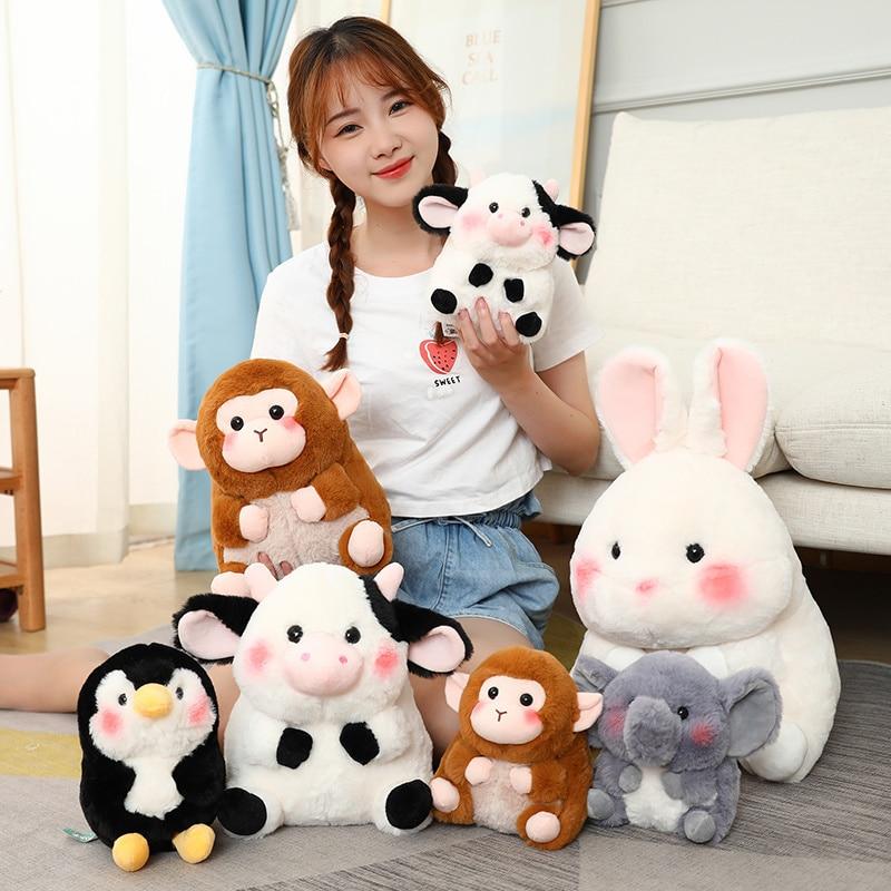 18/28/40cm Cute Soft Elephant Pig Rabbit Penguin Plush Toys for Children Stuffed Lovely Animal Doll Baby Appease Toys Xmas Gifts