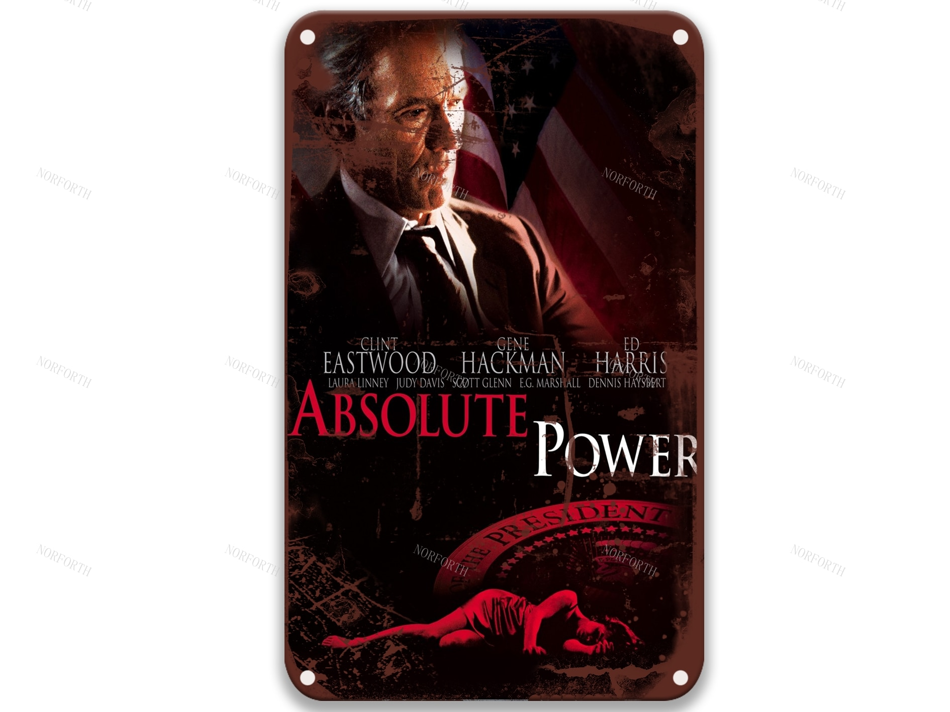 Poder absoluto (1997) película Retro carteles de Metal películas Bar decoración Vintage...