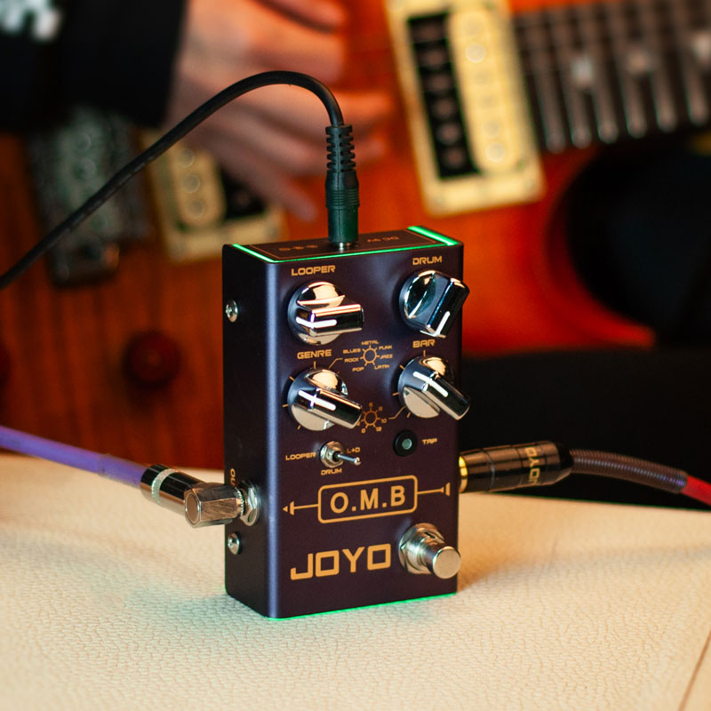 JOYO R-06 O.M.B LOOPER + Drum Machine For Electric Guitar Pedal Effect True Bypass Musical Instrument Pedalboard Guitar Pedal enlarge