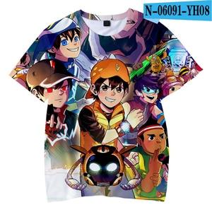 Hot Anime BoBoiBoy T Shirts Short T Shirt Fashion Summer Short-Sleeved T-shirt Trendy Boys/girls Streetwear Kid's Clothing