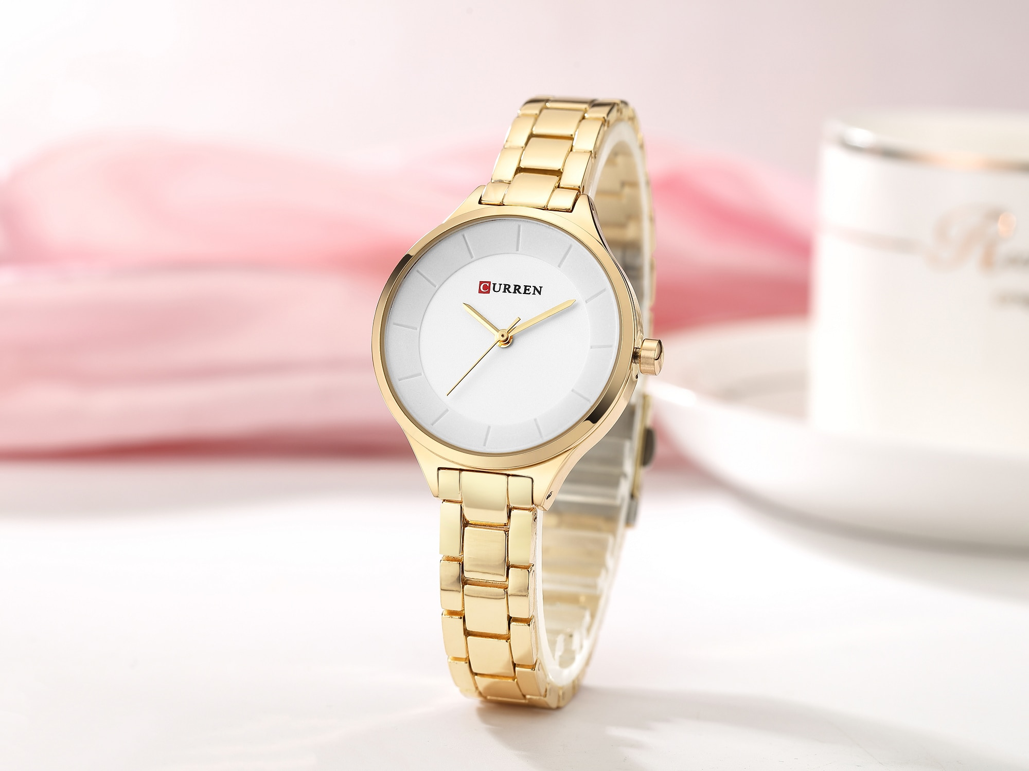 CURREN Female Watch Fashion Luxury Women Watches New Arrival Stainless Steel Quartz Wrist Watch Waterproof Valentine's Day Gift enlarge