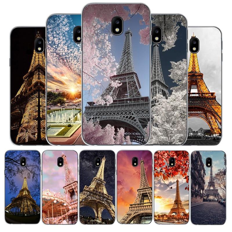 Romantic Paris Eiffel Tower phone case For Samsung J3 J4 J5 J6 J7 J8 Plus 2017 2016 2018 J7MAX U.S. Edition version soft Cover