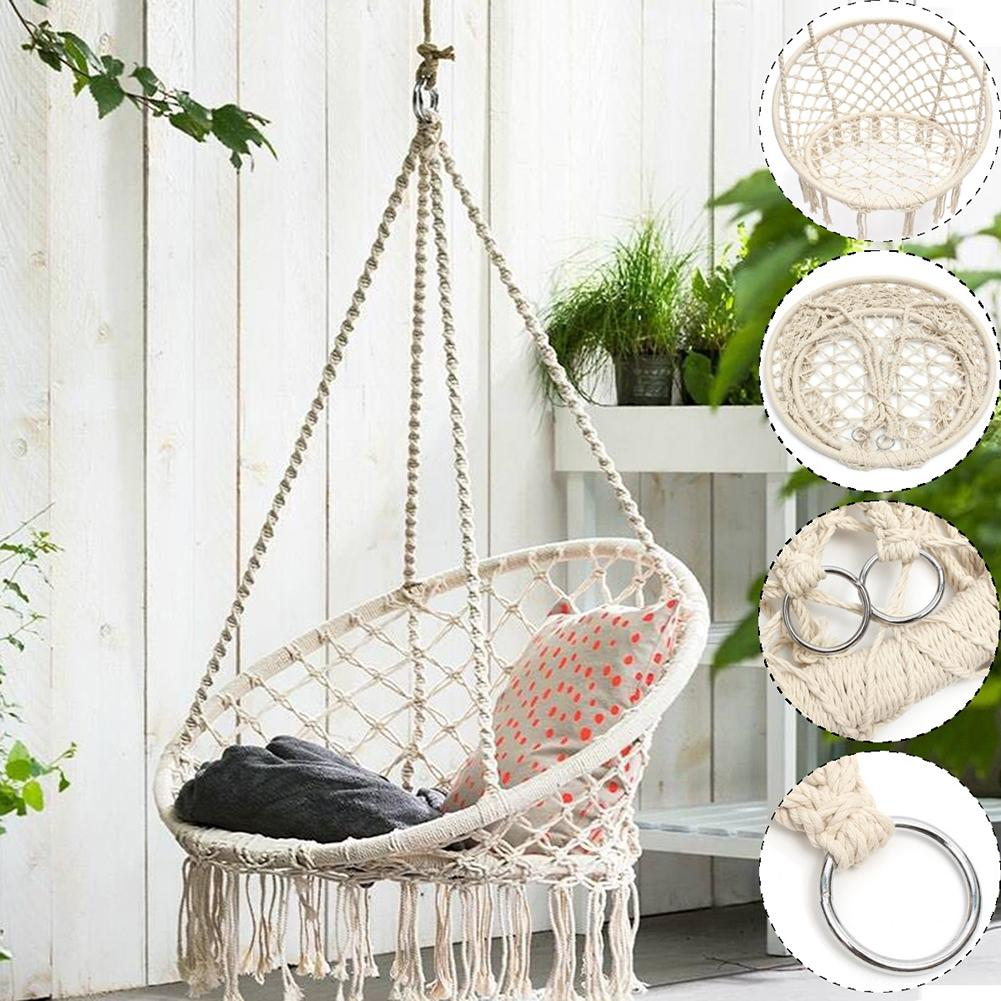 Маленький круглый гамак, кресло для улицы, для помещения, для спальни, для детей, взрослых, свисающее, подвесное, одиночное, безопасное кресл...