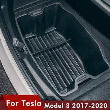 Model3 Car Rear Trunk Storage Box Waterproof Auto Rear Container Organizer Case Tray For Tesla Model 3 accessories 2017- 2020
