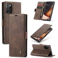 caseme leather phone case for samsung galaxy note 20 ultra note 10 plus s10 lite a81 a91 wallet flip stand card cover coque etui