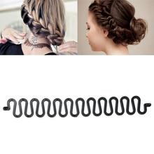 1pc Hair Braiding Tool Hair Styling Women Girls Hair Twist Braider with Hook Hair Edge Twist Curler