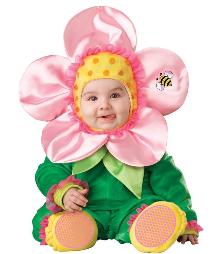 0-3Years Infant Baby Cartoon Flowers Rompers Kids Birthday Anniversary Party Role Play Dress Up Outf