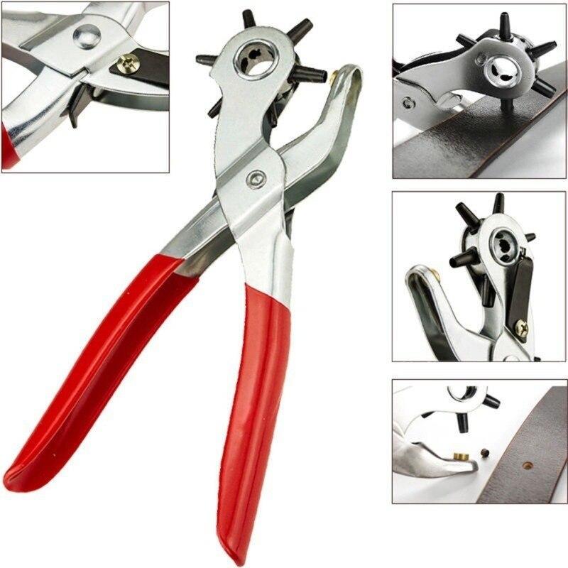 Перфоратор для ремней, сумка для шитья, кожевенное ремесло, кожаный перфоратор, вращающийся инструмент, плоскогубцы, дырокол для ремней, дыр...