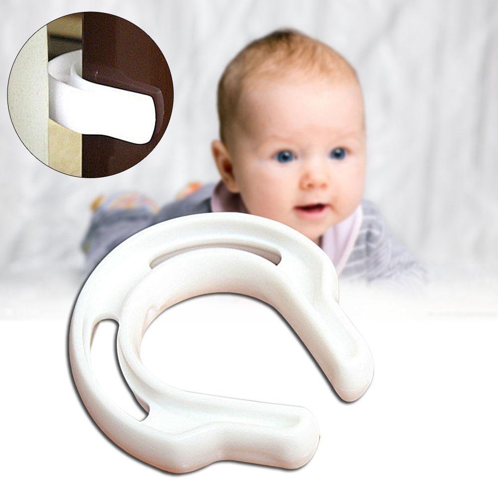 Protector de puerta tapón de seguridad de bebé Jammer plástico Anti dedo Slamming blanco nuevo