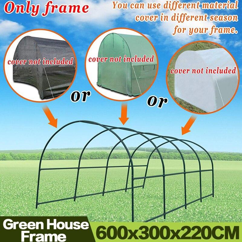 AULAYSED 600x300x220CM bahçe çok kullanımlı destek kemer çerçeve tırmanma tesisleri/çiçekler/sebze sera çerçeve