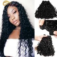 htonicca pixie curls human hair 134 bundles double drawn peruvian hair bundles natural color 100 remy hair weaves