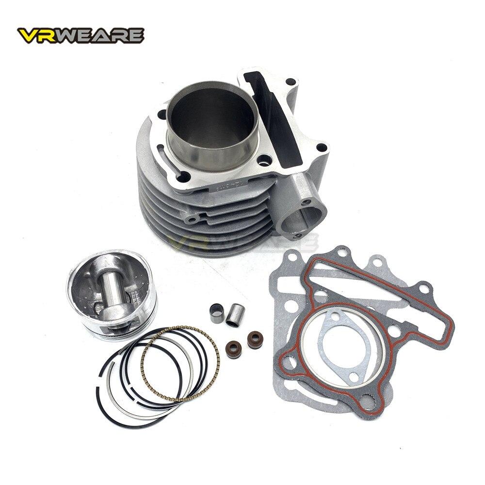 Gy6 125 cilindro kit 52.4mm cilindro pistão anel conjunto para 4 tempos de refrigeração ar scooter ciclomotor atv quad gy6125 152qmi 1p52qmi
