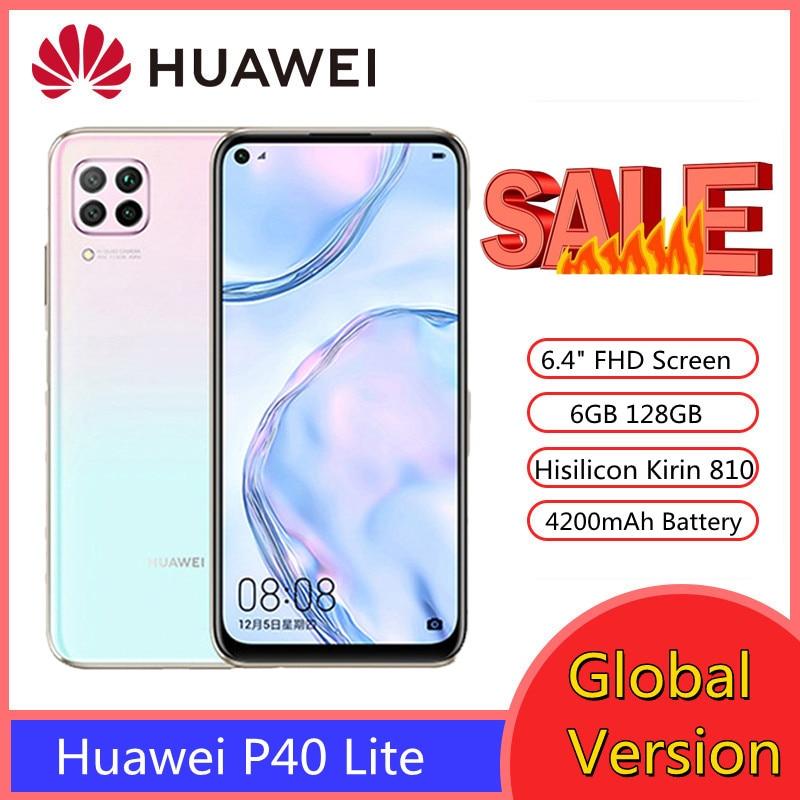Перейти на Алиэкспресс и купить Глобальная версия Huawei P40 Lite смартфон 6 ГБ 128 48MP AI камеры 6,4 дюймFHD экран Kirin 810 Octa Core Huawei Мобильные телефоны