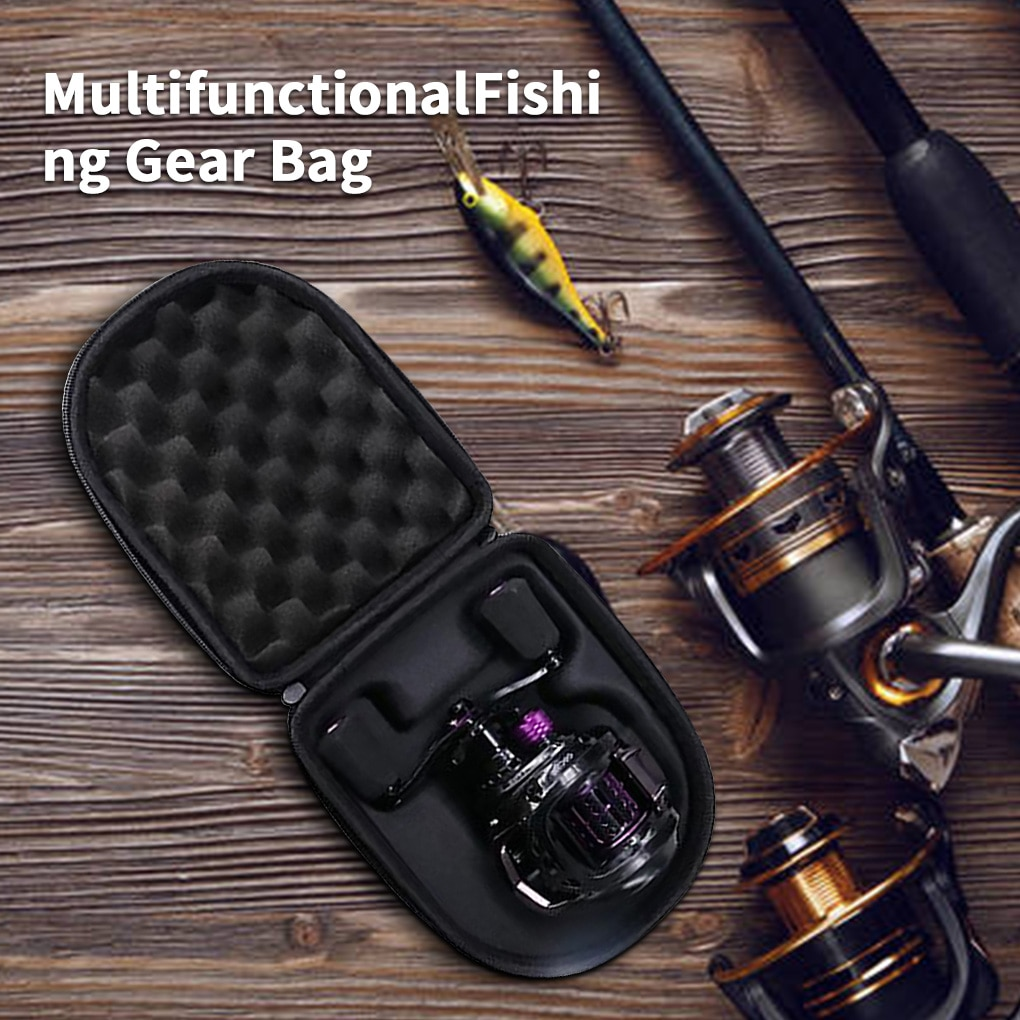 fishing reel 13 bearing large line capacity 6 3 1 lightweight left handed right handed bait casting fishing reel wheel tool Baitcasting Fishing Reel Bag EVA Sea Bait Casting Drum Reels Pouch Protective Case Fishing Wheel Tackle Bag Pesca Left/right