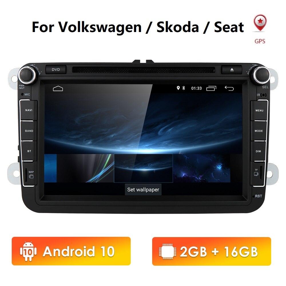 Android 9 8Car reproductor Multimedia 2Din CarDVD GPS para VW/Volkswagen/Golf/Polo/Tiguan/Passat /b7/b6/asiento/León/Skoda/Radio Octavia