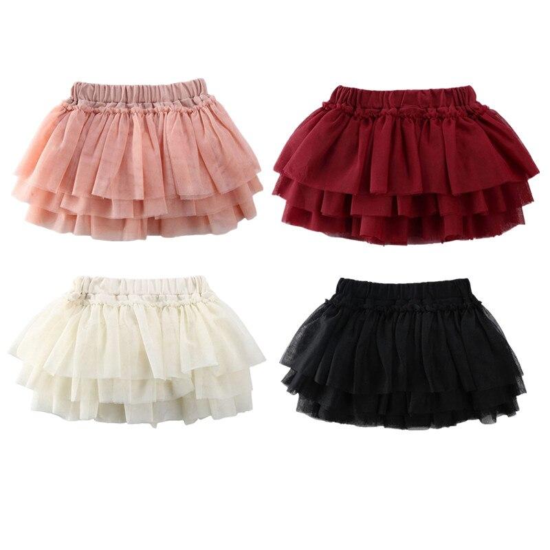 1-5years moda criança bebê meninas rendas tutu saia renda macacão vestido de baile saia verão roupas da menina