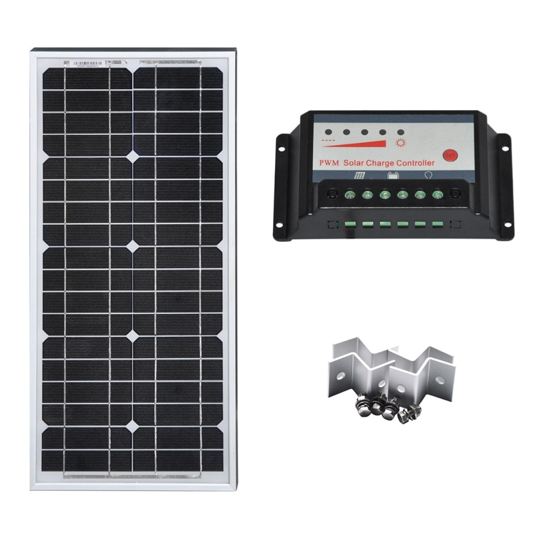 Kit de Panel Solar 30W 60W 90W controlador de carga Solar 12v/24v...