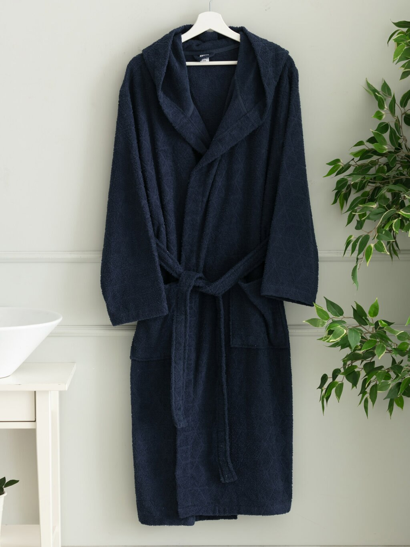 куртка zimtstern snow jacket vega men blue dark grey Men Hooded Bathrobe 2021 Season Dark Blue Dark Grey Cotton Soft Flannel Gentlemen S M L XL Sleepwear Pyjamas