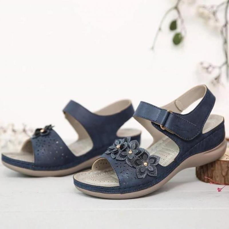 Sandalias para Mujer con punta De flor talla grande 43, Zapatos De...