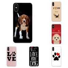 Photo de Téléphone Pour Huawei Honor 5C 5X 6A 6X 7 7A 7X 8 8A 8S 8X 9 10 30 Lite Pro Y6 II Y7 Y9 Premier 2019 Jadore Mes Chiens Beagle