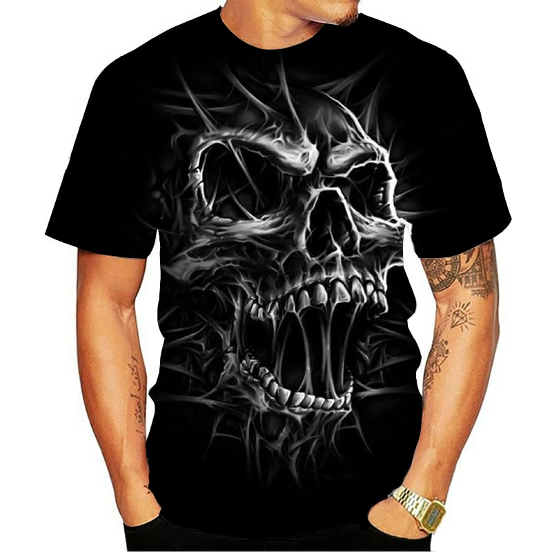 2021 New Cloudstyle Own Design Men's T shirt 3D Gun Warrior Tshirt Print Knife Harajuku Tops Tee Short Sleeve Fitness t-shirt