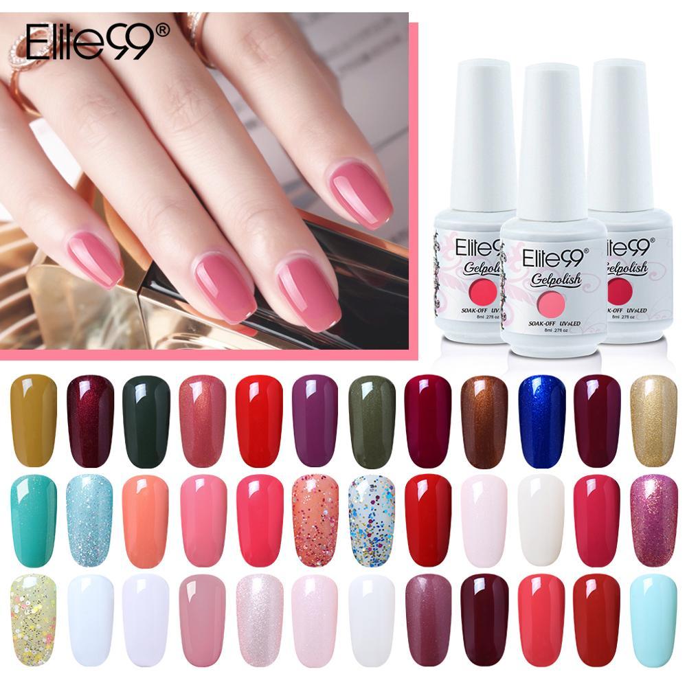 Elite99-esmalte de uñas en Gel UV semipermanente, esmalte para decoración de uñas,...