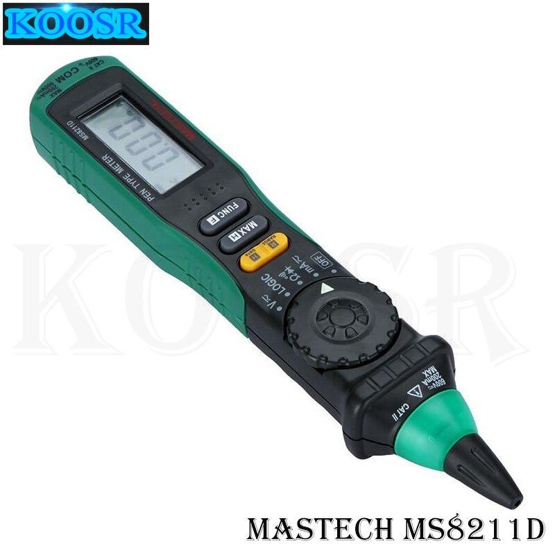 Verificador da pena-tipo do multímetro de digitas de mastech ms8211d, lcd 3/4 escala automática de digitas ac/dc/ohm/continuidade/amperium polymeter
