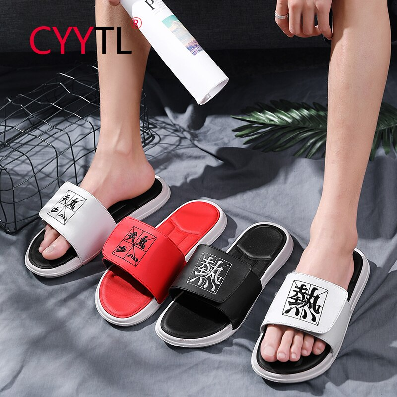 CYYTL Men Bath Slippers  Shower Sandals Electric Embroidery 3D Non-Slip Indoor Shoes Pool Beach Home Summer Slides Breathable