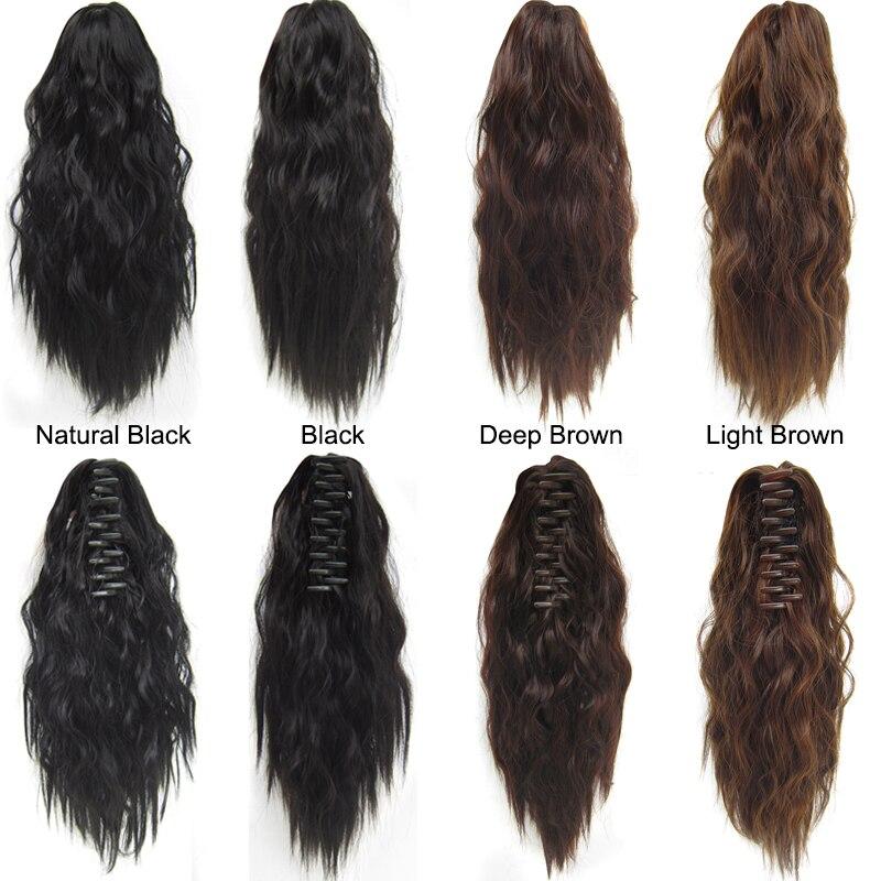 Similler Afro, extensiones de pelo corto rizado, pinza de garra sintética, coleta Natural, extensiones de cabello con tapa, cola de poni
