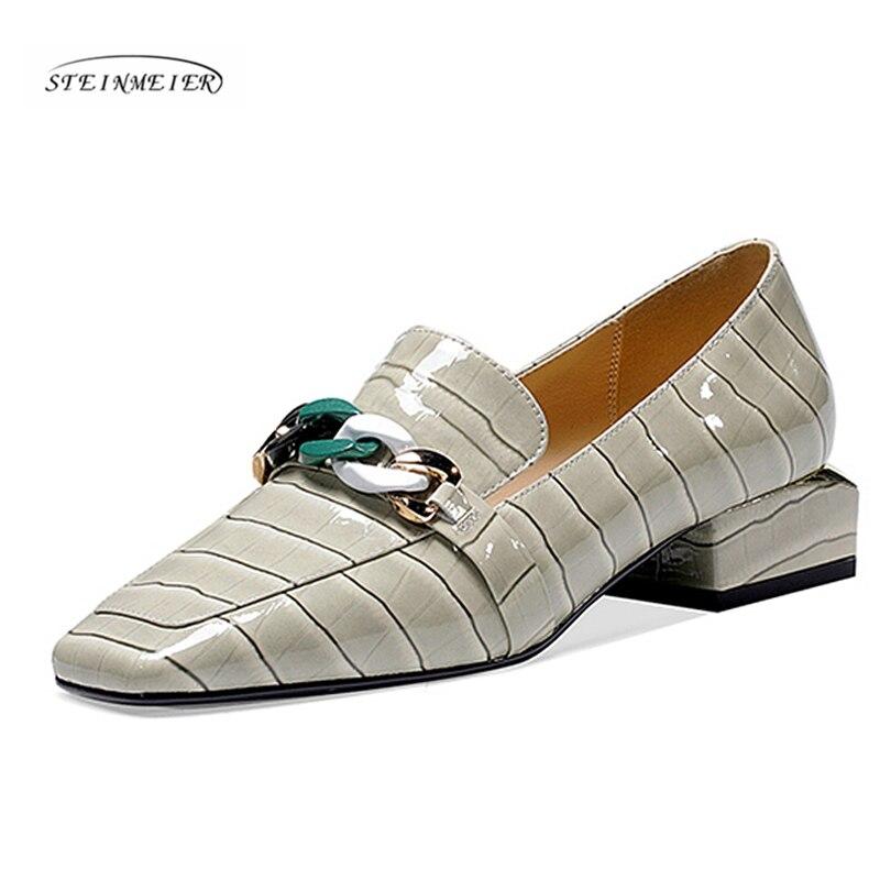 Sapatos planos femininos 2020 tênis de couro genuíno sqaure toe apartamentos plataforma brogues senhoras verão mulher gladiador sapatos planos